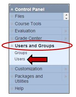 Selection Users and Groups from Control Panel