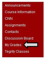 Access My Grades in Blackboard Course