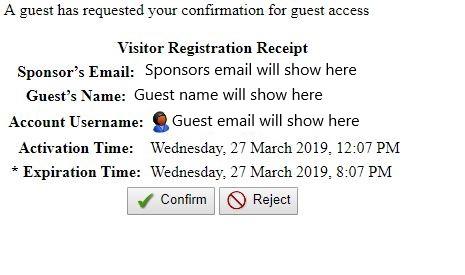 Visitor Receipt