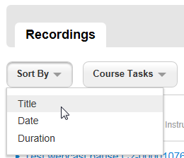 Sort Options are by Title, Date, and Duration